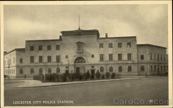 City Police Station Leicester England