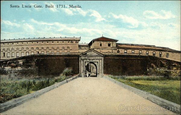 Santa Lucia Gate Manila Philippines Southeast Asia