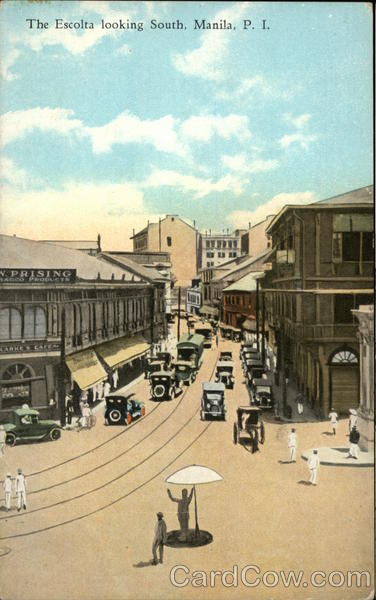The Escolta Looking South Manila Philippines Southeast Asia