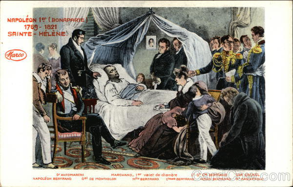 Death of Napoleon the 1st (Bonaparte) Saint Helena