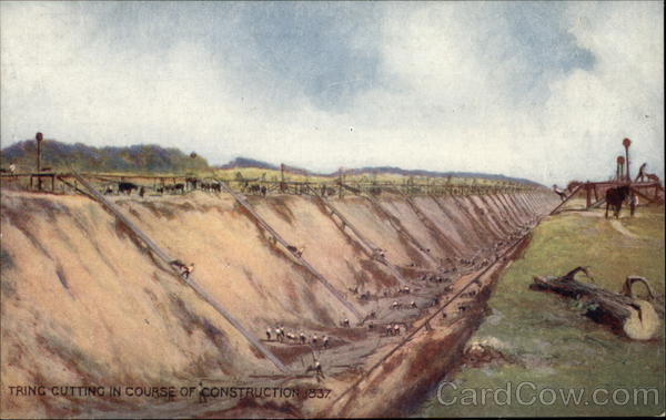 Tring Cutting In Course of Construction, 1837. Great Britain