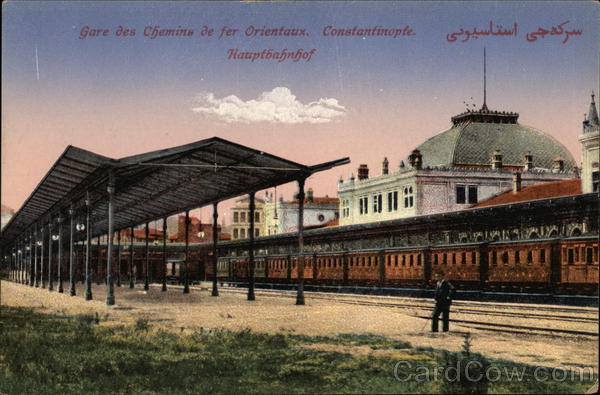 Gare des Chemins de Fer Orientaux. Constantinople. Constantinolpe [Istanbul] Turkey
