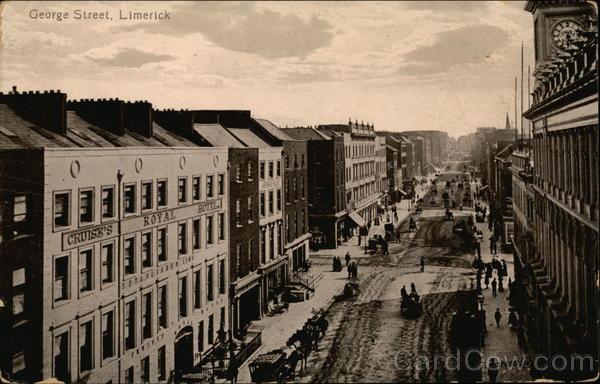 Looking Up George Street Limerick Ireland