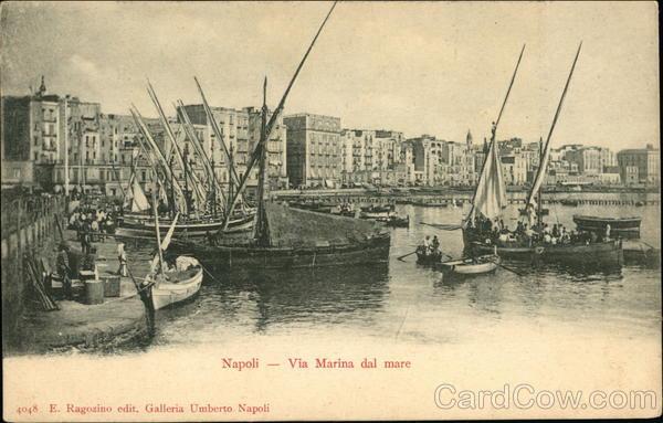 Via Marina dal Mare Naples Italy