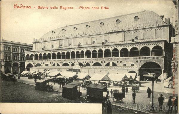 Salone della Ragione - Piazza delle Erbe Padova Italy