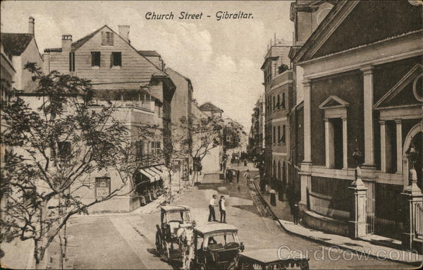 Church Street Gibraltar Spain, Portugal