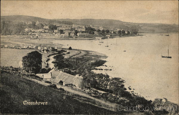 Aerial View of Village and Bay Crosshaven Ireland