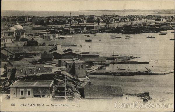 General View Alexandria Egypt Africa