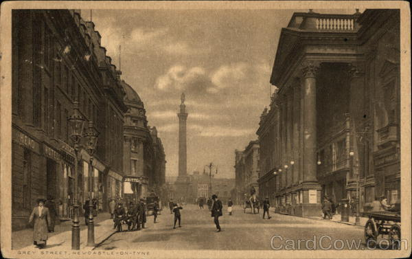 View Along Grey Street Necastle-on-Tyne England
