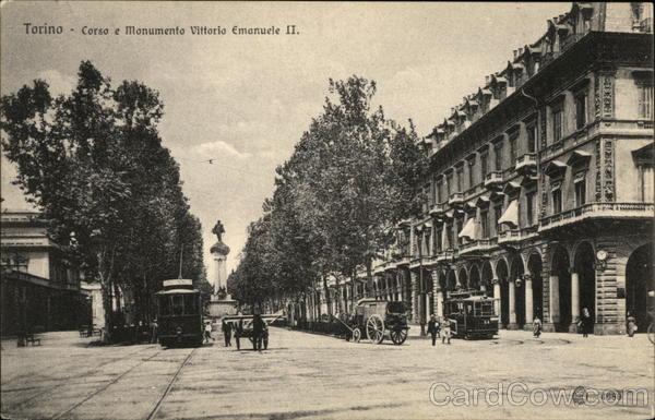 Corsa e Monumento Vittoria Emanuele II Turin Italy