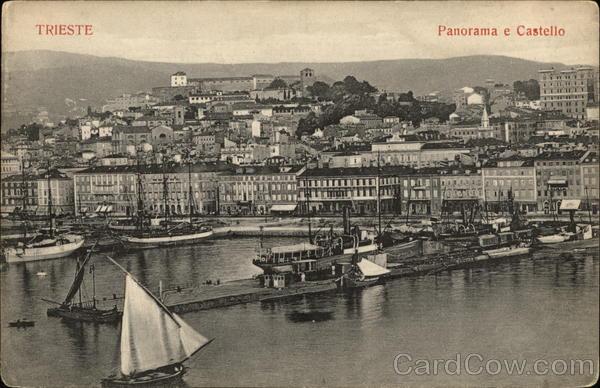 Panomama e Castello Trieste Italy