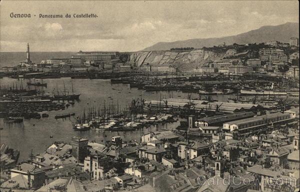 Panorama da Castelletto Genova Italy