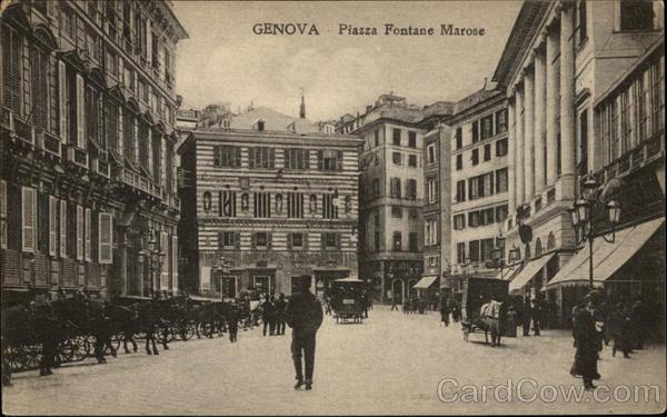 Piazza Fontane Marose Genoa Italy