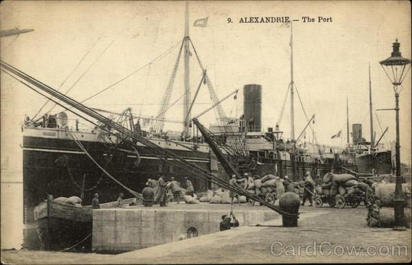 The Port Alexandria Egypt Africa