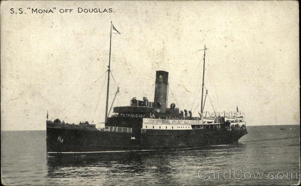 S.S. Mona off Coast, Isle of Man Douglas England