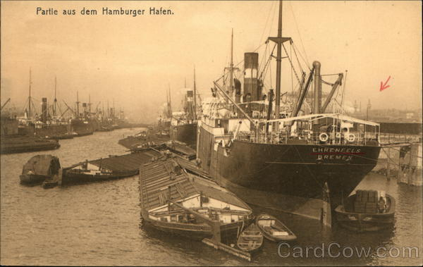 View of Harbor Hamburg Germany