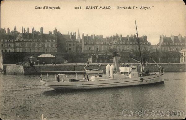 Cote d'Emeraude 2016 SAINT-MALO - Entree de l' Alcyon Saint Malo France
