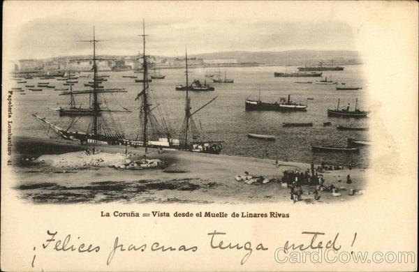 Vista Desde el Muelle de Linares Rivas La Coruna Spain