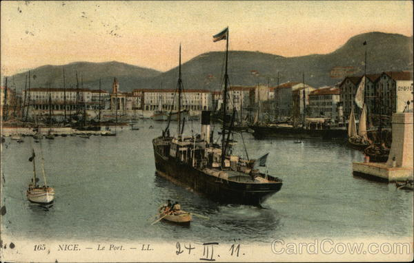 View of Port Nice France