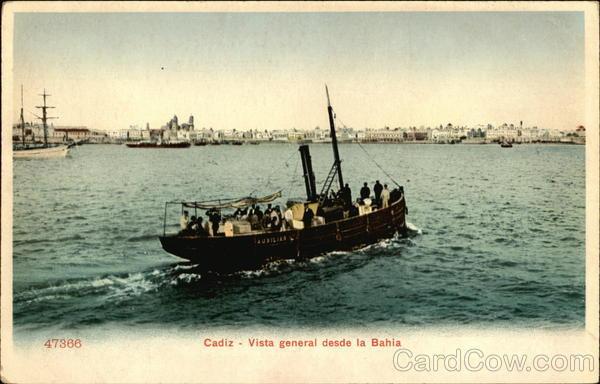 Vista General Desde la Bahia Cadiz Spain Spain, Portugal