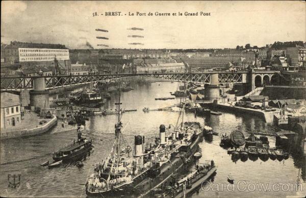 Le Port de Guerre et le Grand Pont Brest France