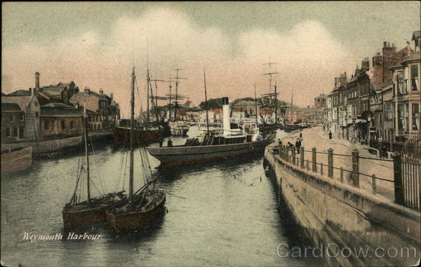 View of Harbour Weymouth England Dorset