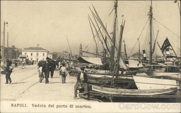 Veduta del Porto di Scarico Naples Italy
