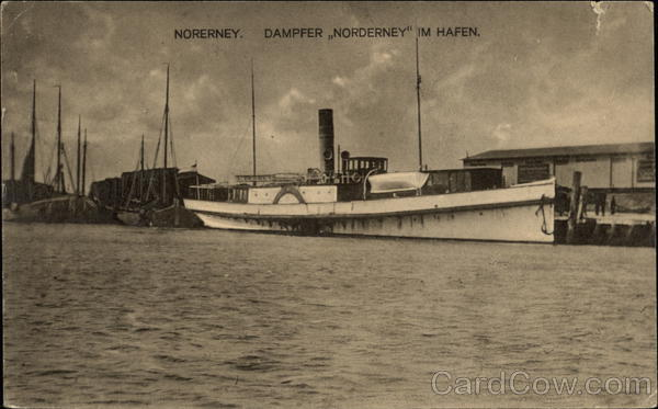 Steamer Norderney in Harbor Germany
