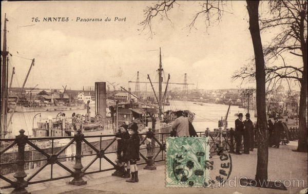 View of Port Nantes France