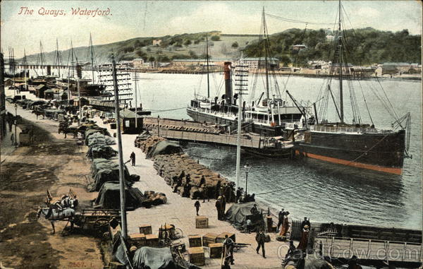 View of the Quays Waterford Ireland