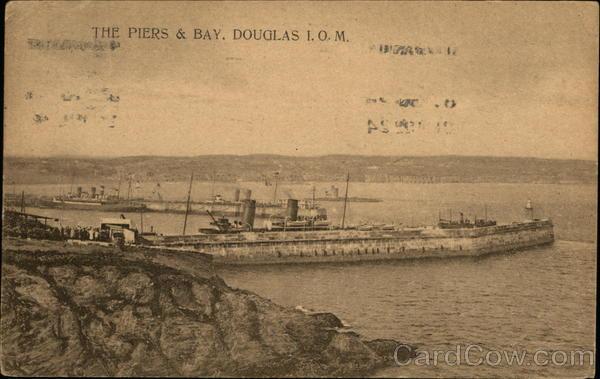 The Piers & Bay, Isle of Man Douglas England