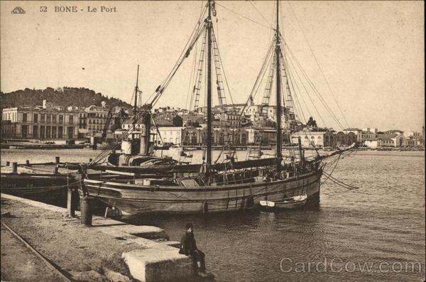 View of Port Annaba Algeria Africa