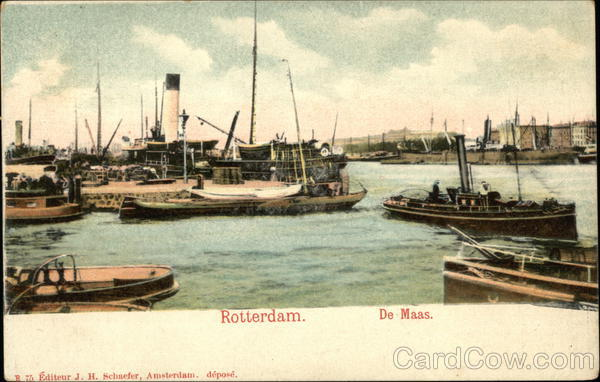 Maas River Rotterdam Netherlands Benelux Countries