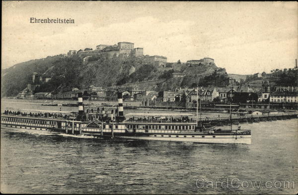 Ehrenbreitstein Fortress and Rhine River Koblenz Germany