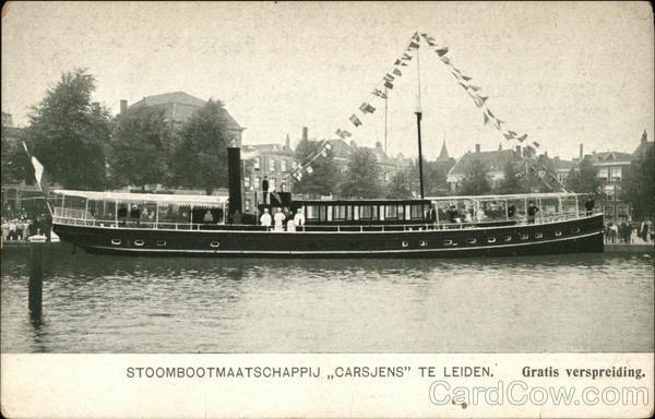 Stoombootmaatschappij Carsjens Te Leiden Netherlands