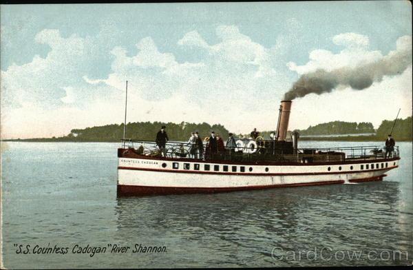 S.S. Countess Cadogan River Shannon Ireland