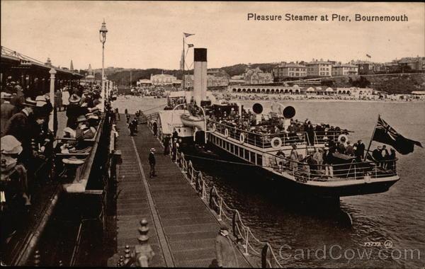 Pleasure Steamer at Pier Bournemouth England Dorset