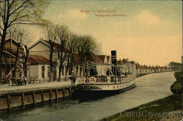 Aanlegplaats Markerboot Broek in Waterland Netherlands