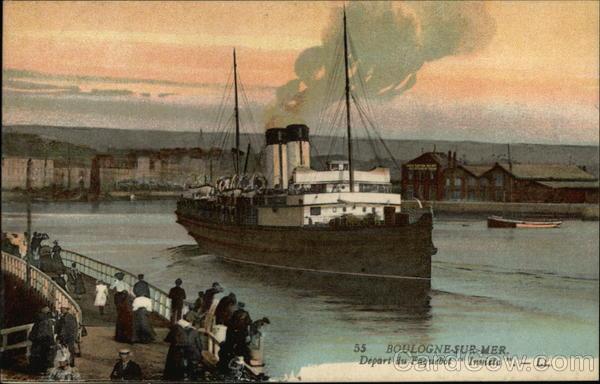 Depart du Paquebot Invieta Boulogne-Sur-Mer France