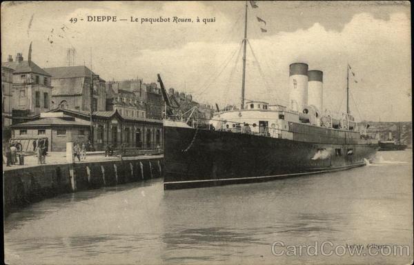 Dieppe - Le Paquetbot Rouen, a quai France