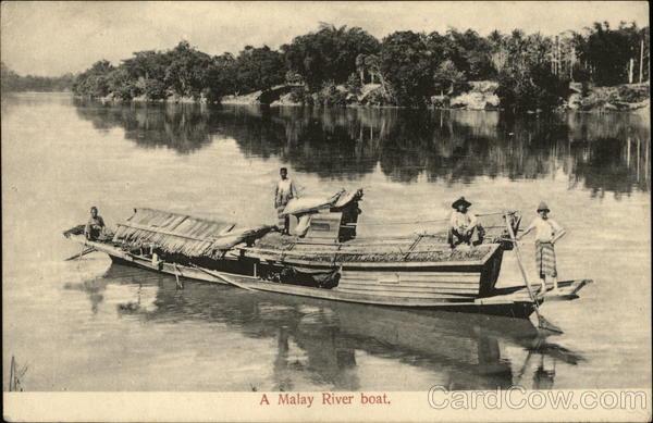 Malay River Boat Malaysia Southeast Asia