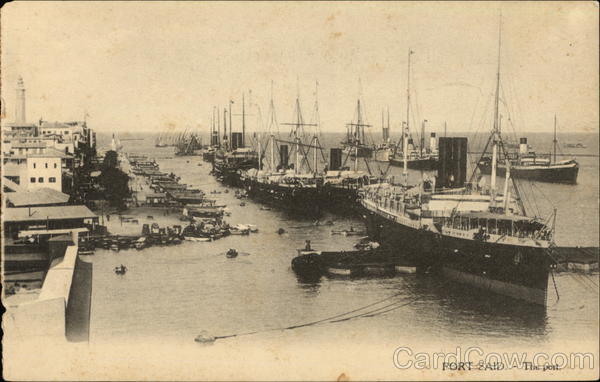 View of the Port Port Said Egypt Africa