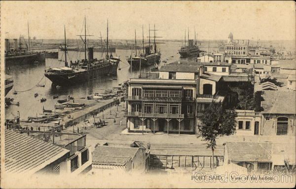 View of Harbour Port Said Egypt Africa