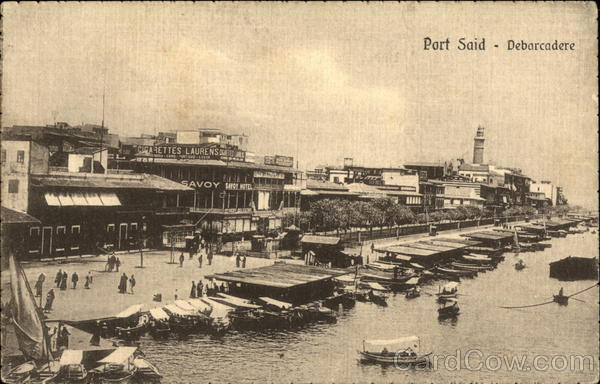 View of Boat Landing Port Said Egypt Africa