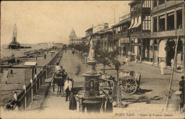 Street of Francis-Joseph Port Said Egypt Africa
