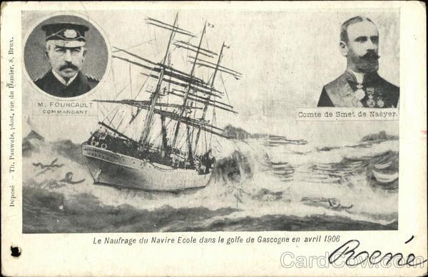 Le Naufrage de Naivre Ecole dans le golfe de Gascogne en avril 1906 France