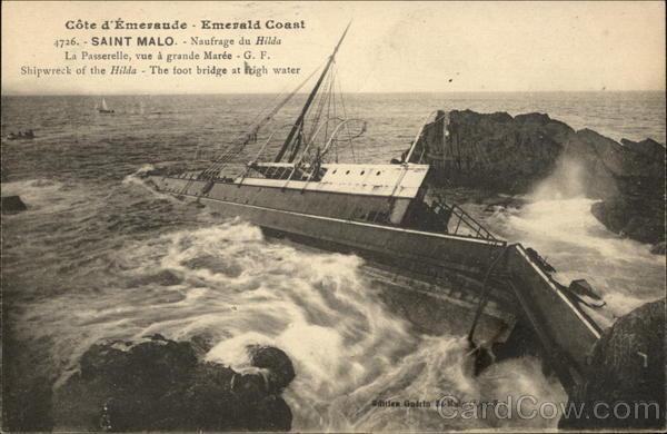 Shipwreck of theHilda St. Malo France