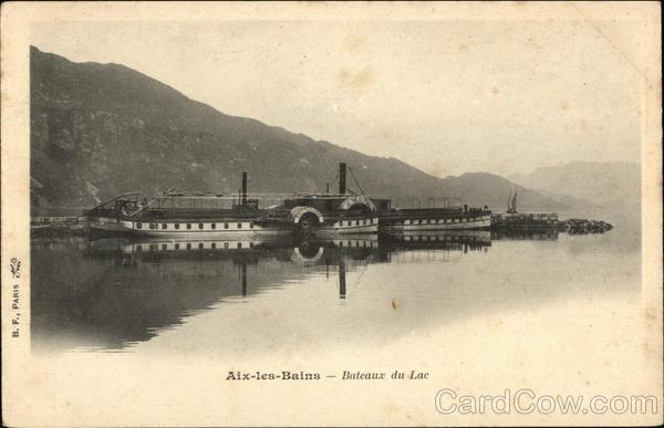 Bateaux du Lac Aix-Les-Bains France