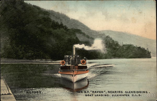 The S.Y. RAVEN Nearing Glenridding. Guyana South America