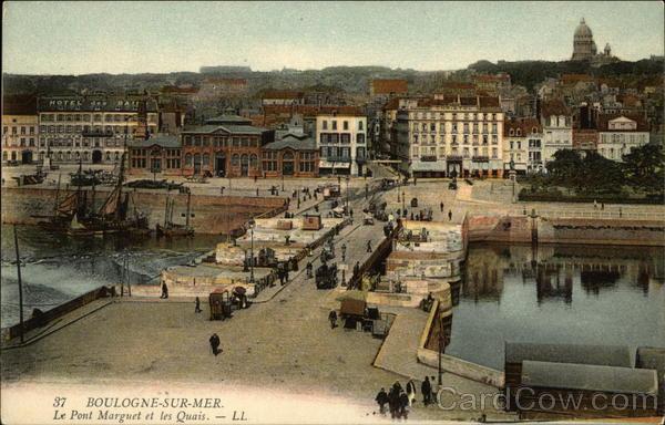 Le Pont Marguet et les Quais Boulogne-Sur-Mer France